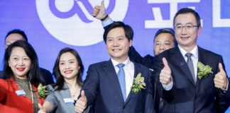 Lei Jun led Jin Shanyun at NASDAQ IPO
